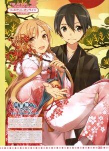 Rating: Safe Score: 41 Tags: abec asuna_(sword_art_online) kirito sword_art_online yukata User: drop