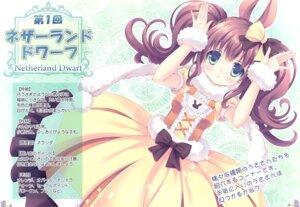 Rating: Questionable Score: 15 Tags: animal_ears bunny_ears dress roritora tagme tsukishima_yuuko User: Radioactive
