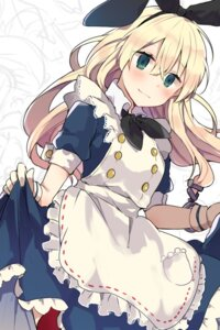 Rating: Safe Score: 41 Tags: alice alice_in_wonderland dress skirt_lift tanuma_(tyny) thighhighs User: nphuongsun93