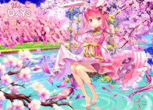 Rating: Safe Score: 23 Tags: animal_ears bunny_ears dress fujima_takuya skirt_lift tail wet User: RICO740