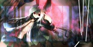 Rating: Questionable Score: 9 Tags: animal_ears bunny_ears kei no_bra open_shirt reisen_udongein_inaba touhou User: WhiteExecutor