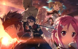 Rating: Safe Score: 70 Tags: asuna_(sword_art_online) kirito klein_(sword_art_online) lisbeth pina silica studio_s.d.t. sword_art_online wallpaper yuuki_tatsuya User: WtfCakes