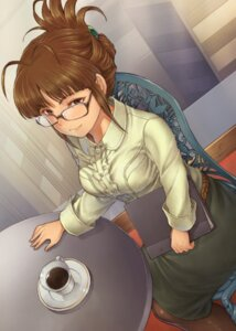 Rating: Safe Score: 26 Tags: akizuki_ritsuko chiaki_rakutarou megane pantyhose the_idolm@ster User: Mr_GT