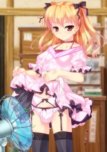 Rating: Questionable Score: 71 Tags: aogiri_penta crossdress dress garter_belt josou_sanmyaku koyashiki_yura pantsu skirt_lift stockings thighhighs trap User: blooregardo