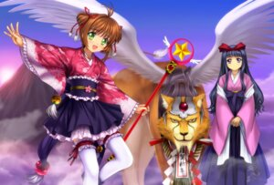 Rating: Safe Score: 25 Tags: card_captor_sakura daidouji_tomoyo garter kero kimono kinomoto_sakura moonknives thighhighs wings User: demon2