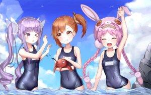 Rating: Questionable Score: 17 Tags: akane_mimi animal_ears bunny_ears hikawa_kyouka hodaka_misogi mannaku princess_connect princess_connect!_re:dive school_swimsuit swimsuits wet User: yanis