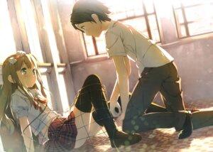 Rating: Safe Score: 132 Tags: azuki_azusa hentai_ouji_to_warawanai_neko kantoku seifuku thighhighs yokodera_youto User: Anonymous