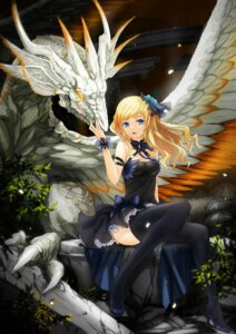 Rating: Safe Score: 45 Tags: cleavage dress heels min_(pixiv) monster thighhighs User: mash