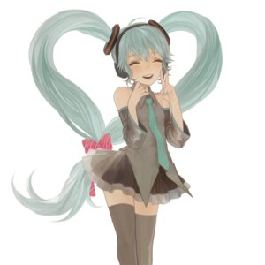 Rating: Safe Score: 12 Tags: hatsune_miku matayoshi thighhighs vocaloid User: yumichi-sama