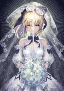 Rating: Safe Score: 33 Tags: dress fate/grand_order saber saber_lily tagme wedding_dress User: Mr_GT