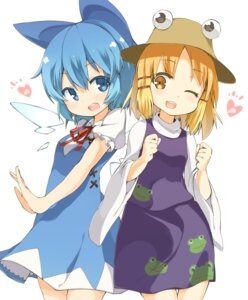 Rating: Safe Score: 31 Tags: cirno dress moriya_suwako tekka-maki touhou wings User: charunetra