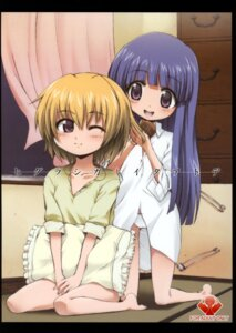 Rating: Questionable Score: 10 Tags: dress_shirt furude_rika higurashi_no_naku_koro_ni houjou_satoko onija_tarou pantsu star_genom User: Radioactive