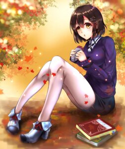 Rating: Safe Score: 30 Tags: haguro_(kancolle) heels kantai_collection kazu_oekaki pantyhose sweater uniform User: mash