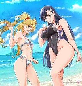 Rating: Questionable Score: 31 Tags: bikini bleach burn_the_witch crossover niihashi_noel ninny_spangcole swimsuits tagme User: saemonnokami