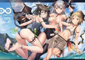 Rating: Questionable Score: 33 Tags: animal_ears arknights ass bikini feet garter gun horns ifrit_(arknights) megane saria_(arknights) see_through silent_(arknights) swimsuits tail thighhighs weapon wet xo_(xo17800108) User: Arsy