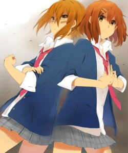 Rating: Safe Score: 15 Tags: hirasawa_yui karuha k-on! seifuku tainaka_ritsu User: charunetra