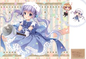 Rating: Safe Score: 22 Tags: chocolate_cube dress gochuumon_wa_usagi_desu_ka? hoto_cocoa kafuu_chino miwa_futaba tippy_(gochuumon_wa_usagi_desu_ka?) waitress User: Radioactive