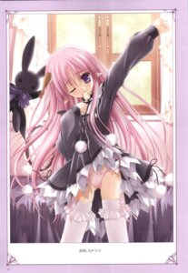 Rating: Questionable Score: 13 Tags: lolita_fashion magical_tale pantsu sasha_(magical_tale) thighhighs tinkle undressing User: noirblack