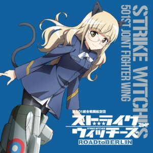 Rating: Safe Score: 10 Tags: animal_ears disc_cover mecha_musume megane nekomimi pantyhose perrine-h_clostermann strike_witches tagme tail uniform User: Iketani_RC