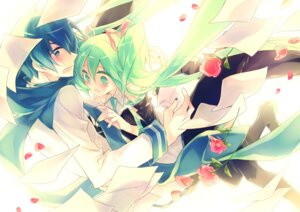 Rating: Safe Score: 8 Tags: hajida hatsune_miku kaito vocaloid User: Radioactive