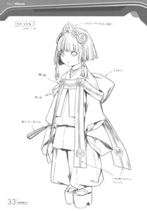 Rating: Safe Score: 9 Tags: character_design mikuni monochrome range_murata shangri-la sketch User: Share