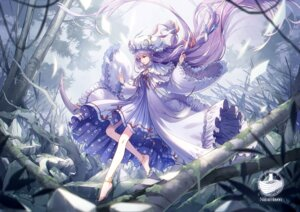 Rating: Safe Score: 20 Tags: dress kieta patchouli_knowledge skirt_lift touhou User: Dreista
