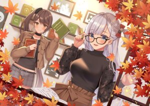 Rating: Safe Score: 33 Tags: azur_lane izumo_neru megane shoukaku_(azur_lane) zuikaku_(azur_lane) User: Mr_GT