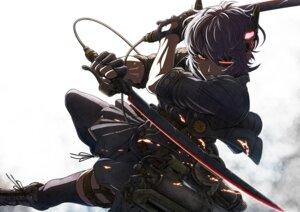 Rating: Safe Score: 43 Tags: cosplay eyepatch imizu kantai_collection shingeki_no_kyojin sword tenryuu_(kancolle) thighhighs User: Radioactive