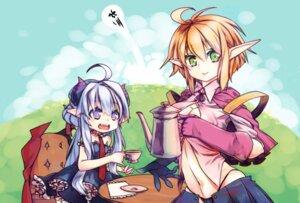 Rating: Questionable Score: 12 Tags: cleavage elf horns mkiiiiii pointy_ears User: ryoryu
