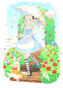 Rating: Questionable Score: 11 Tags: alice alice_in_wonderland dress heels summer_dress tagme umbrella white_rabbit User: Mr_GT