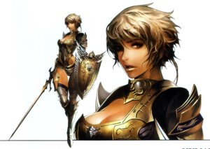 Rating: Safe Score: 20 Tags: armor cleavage jeong_juno lineage thighhighs User: Nomeil