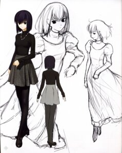 Rating: Safe Score: 22 Tags: dress heels kuonji_alice mahou_tsukai_no_yoru pantyhose sketch type-moon User: Fanla