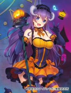 Rating: Safe Score: 67 Tags: cleavage dress halloween heels horns idol_labo thighhighs wacchi User: fairyren