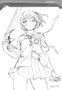 Rating: Safe Score: 11 Tags: houjou_kuniko monochrome range_murata seifuku shangri-la sketch User: Share
