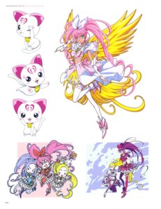 Rating: Safe Score: 7 Tags: chibi dress heels houjou_hibiki hummy kurokawa_ellen minamino_kanade neko pretty_cure suite_pretty_cure takahashi_akira thighhighs wings User: drop