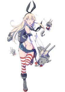 Rating: Safe Score: 43 Tags: kantai_collection koyama_shigeto rensouhou-chan shimakaze_(kancolle) thighhighs thong User: vkun