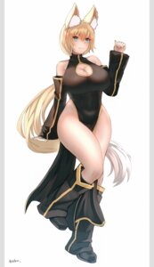 Rating: Safe Score: 12 Tags: alice_(flanaki) animal_ears chinadress cleavage ehrrr kitsune nopan User: dick_dickinson