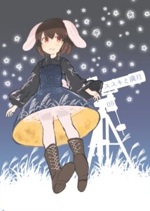 Rating: Safe Score: 8 Tags: animal_ears bunny_ears dress inaba_tewi inazakura00 see_through tail touhou User: Mr_GT