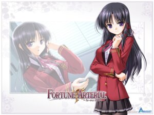 Rating: Safe Score: 12 Tags: bekkankou fortune_arterial kuze_kiriha seifuku wallpaper User: admin2
