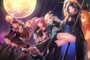 Rating: Safe Score: 68 Tags: animal_ears cleavage dress halloween hayami_kanade horns ichinose_shiki ilo jougasaki_mika miyamoto_frederica nekomimi shiomi_shuuko stockings tail the_idolm@ster the_idolm@ster_cinderella_girls thighhighs wings witch User: Mr_GT