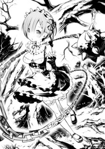 Rating: Safe Score: 52 Tags: cleavage maid masayasuf monochrome re_zero_kara_hajimeru_isekai_seikatsu rem_(re_zero) thighhighs weapon User: Mr_GT