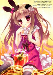 Rating: Questionable Score: 7 Tags: cream dress rokudou_itsuki tagme thighhighs User: Radioactive