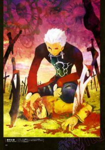 Rating: Safe Score: 4 Tags: archer blood emiya_shirou fate/stay_night male suzuki_sanami sword type-moon User: drop