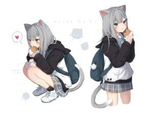 Rating: Safe Score: 29 Tags: amashiro_natsuki animal_ears nacho_(amashiro_natsuki) nekomimi seifuku skirt_lift tail User: Dreista