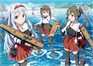 Rating: Safe Score: 74 Tags: ayuya_naka_no_hito gochou_(comedia80) kantai_collection shoukaku_(kancolle) taihou_(kancolle) thighhighs zuikaku_(kancolle) User: fairyren