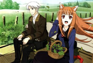 Rating: Safe Score: 16 Tags: animal_ears craft_lawrence holo sasaki_masashi spice_and_wolf tail User: Onpu