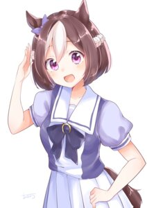 Rating: Safe Score: 27 Tags: animal_ears seifuku special_week tagme tail uma_musume_pretty_derby User: hiroimo2