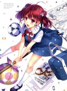 Rating: Questionable Score: 137 Tags: disc_cover hashima_izumi misaki_kurehito saenai_heroine_no_sodatekata seifuku soccer User: fireattack