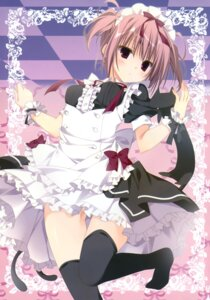 Rating: Questionable Score: 83 Tags: inugami_kira maid necotoxin nopan thighhighs User: batinthebelfry