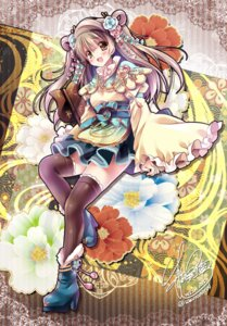 Rating: Safe Score: 21 Tags: autographed heels lolita_fashion love_live! minami_kotori sakurano_ruu thighhighs wa_lolita User: fairyren